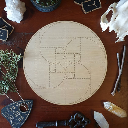 Golden Ratio Crystal Grid // Laser Engraved Sacred Geometry Grid