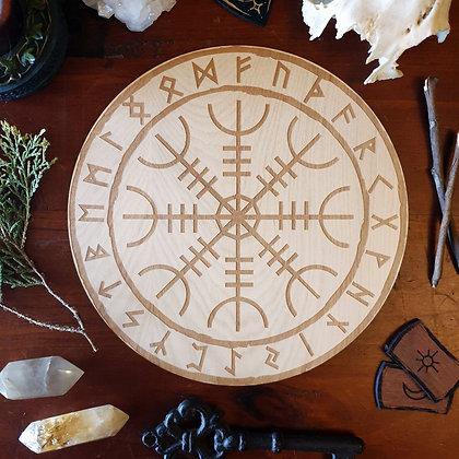 Helm of Awe Altar Tile // Aegishjalmur Norse Viking Tile // Magickal Decor