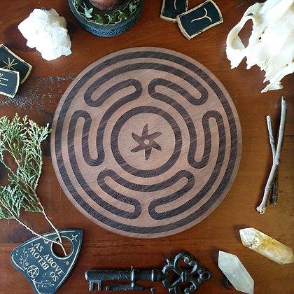 Hekate's Wheel // Goddess Altar Tile // Magickal Decor