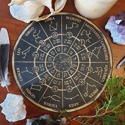 Zodiac Wheel Board // Astrology Guide // Magickal Decor