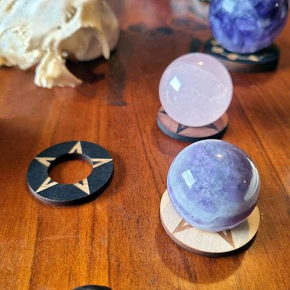 Mini Crystal Sphere Display Stand