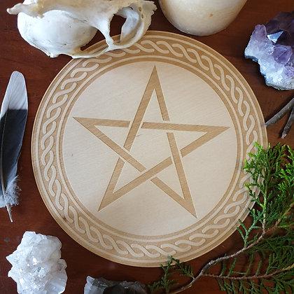 Pentagram Altar Tile // Magickal Decor