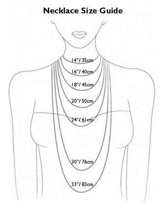Necklace Siz Guide Chart