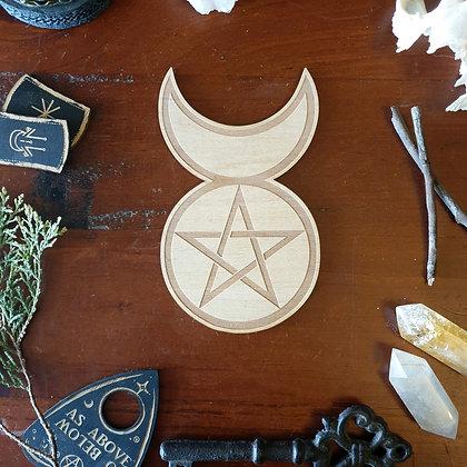 Horned God Altar Tile // Magickal Decor