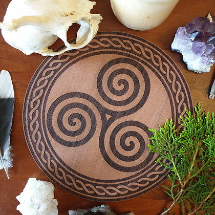 Triskelion Altar Tile // Magickal Decor