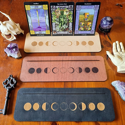 Moon Phase Tarot & Oracle Card Display Stand
