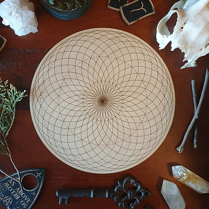 Torus Yantra Crystal Grid // Laser Engraved Sacred Geometry Grid