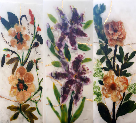 Cornish Flowers Triptic