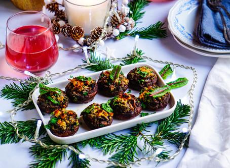 Champignons farcis - vegan & sans gluten