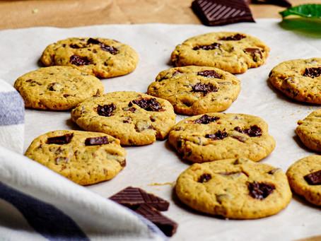 Cookies aux pépites de chocolat - vegan et sans gluten
