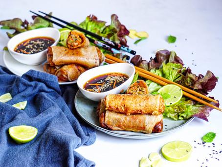 Nems aux légumes et tofu fumé (vegan et sans gluten)