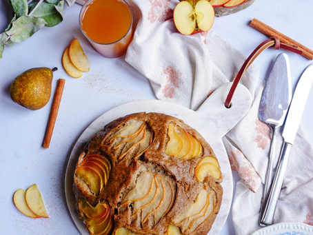 Moelleux aux pommes et aux poires sans gluten
