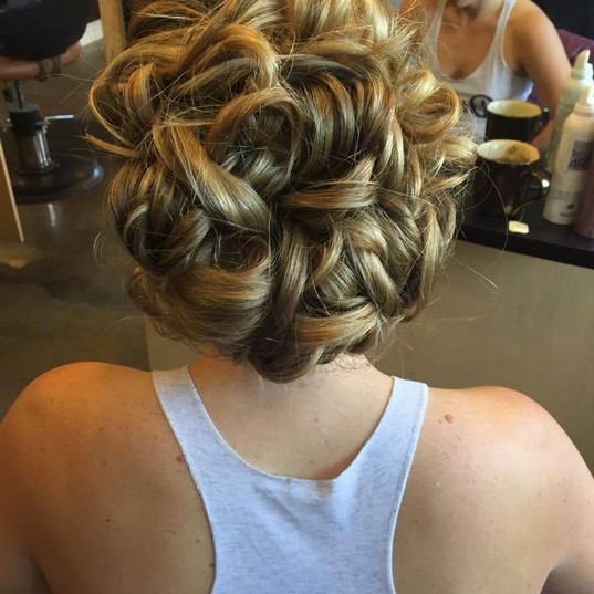 Beautiful UpDo for the Big Day