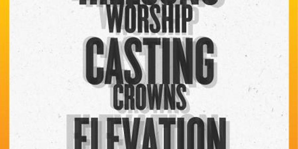 HILLSONG WORSHIP CASTING CROWNS ELEVATION WORSHIP USA TOUR