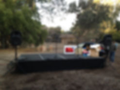 Small Portable Stage Rental Package with PA Sound System Speakers