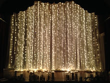 Twinkle light drape for wedding ceremony