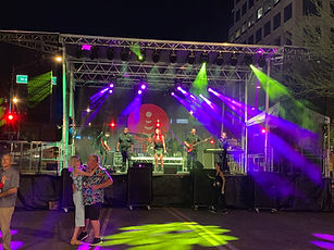 JBL VTX A8 B18 with concert stage lighting