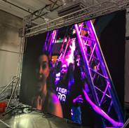 DJ setup led video wall backdrop