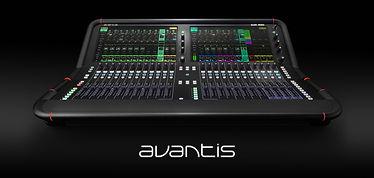 Avantis Allen and Heath digital mixer rental