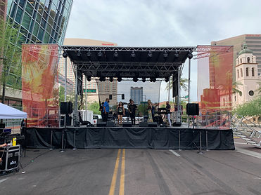 PHX Convention Center Sound Check for Block Party Festival Stage