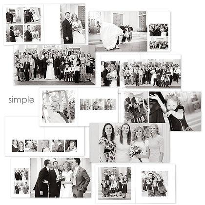 SIMPLE & CLEAN 40 PAGE ALBUM PHOTOSHOP TEMPLATES