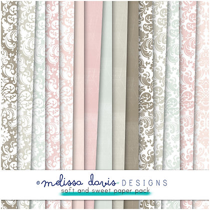SOFT AND SWEET DIGITAL PAPER PACK