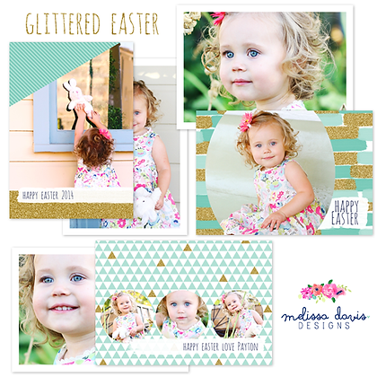 GLITTERED EASTER  PHOTOSHOP TEMPLATES