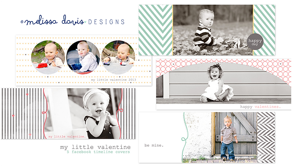 MY LITTLE VALENTINES FACEBOOK COVER PHOTOSHOP TEMPLATES
