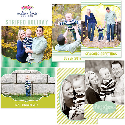 STRIPED HOLIDAY PHOTOSHOP TEMPLATES