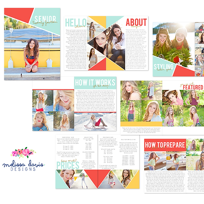 GLITTERED SENIOR MAGAZINE PHOTOSHOP TEMPLATES