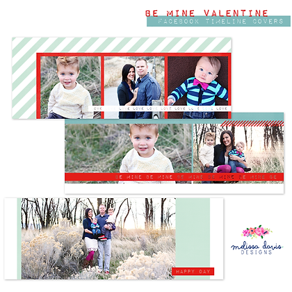 BE MINE VALENTINE FACEBOOK COVER PHOTOSHOP TEMPLATE