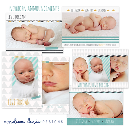 BABY JORDAN BIRTH ANNOUNCEMENT PHOTOSHOP TEMPLATES