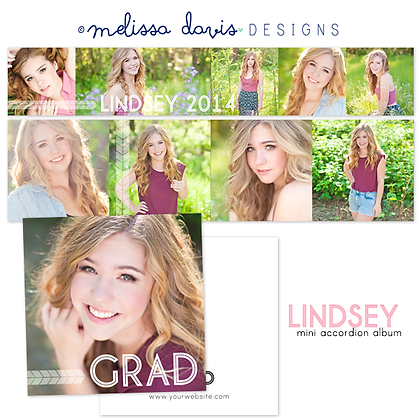 LINDSEY 3x3 ACCORDION ALBUM PHOTOSHOP TEMPLATE