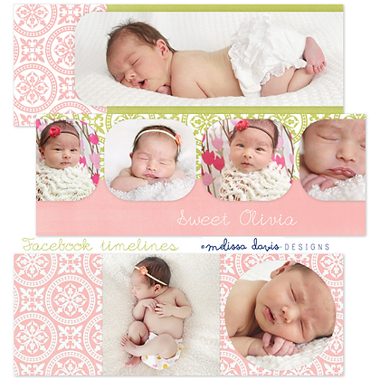 SWEET OLIVIA FACEBOOK COVER PHOTOSHOP TEMPLATES
