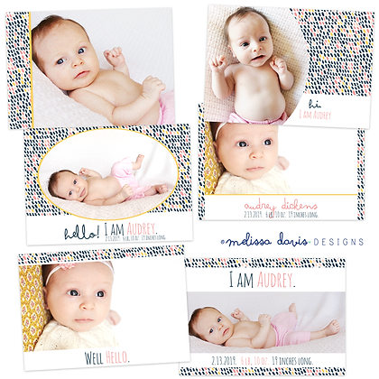 HELLO BIRTH ANNOUNCEMENT PHOTOSHOP TEMPLATES