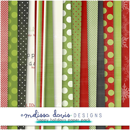 HAPPY HOLIDAYS DIGITAL PAPER PACK