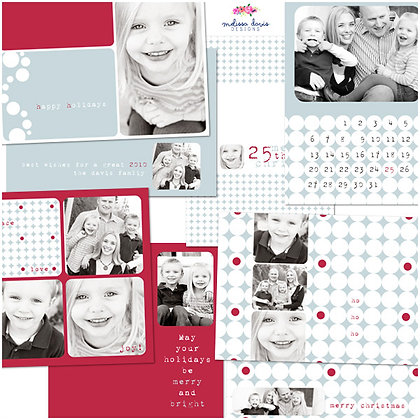 SNOW KISSED HOLIDAY PHOTOSHOP TEMPLATES