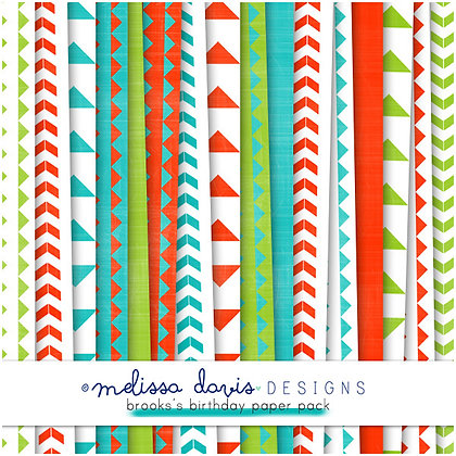 BROOKS'S BIRTHDAY DIGITAL PAPER PACK