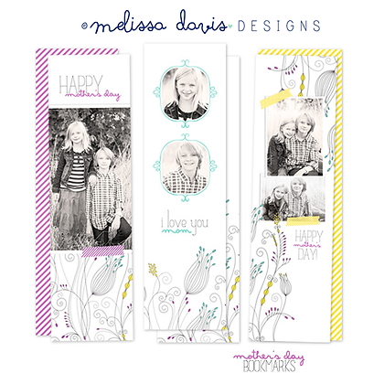 MOTHER'S DAY BOOKMARK PHOTOSHOP TEMPLATES