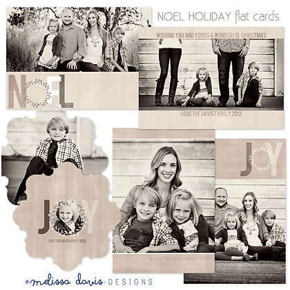 NOEL HOLIDAY PHOTOSHOP TEMPLATES