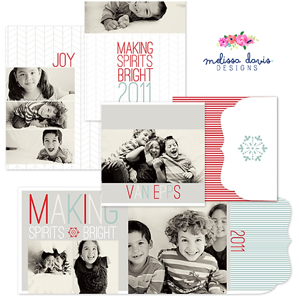 MAKING SPIRITS BRIGHT PHOTOSHOP TEMPLATES