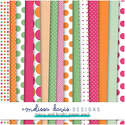 MERRY AND BRIGHT DIGITAL PAPER PACK