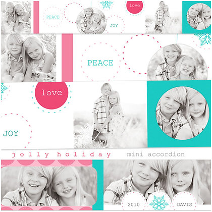 JOLLY HOLIDAY 3x3 ACCORDION ALBUM PHOTOSHOP TEMPLATE
