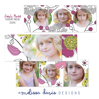 SIMPLY MADDI FACEBOOK COVER PHOTOSHOP TEMPLATES