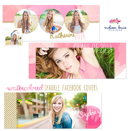 WATERCOLORED SPARKLE FACEBOOK COVER PHOTOSHOP TEMPLATES