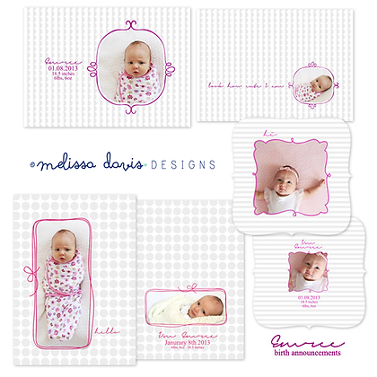 EMREE BIRTH ANNOUNCEMENT PHOTOSHOP TEMPLATES