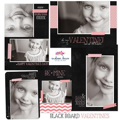 BLACKBOARD VALENTINE PHOTOSHOP TEMPLATES