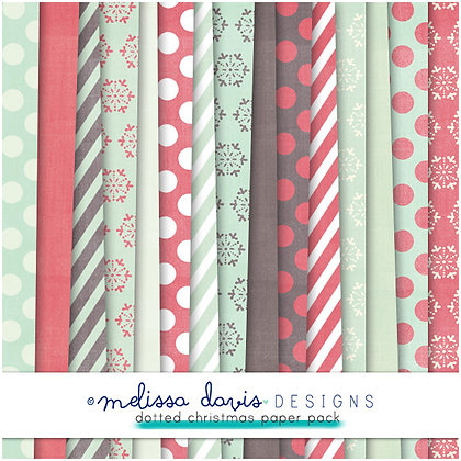 DOTTED CHRISTMAS DIGITAL PAPER PACK
