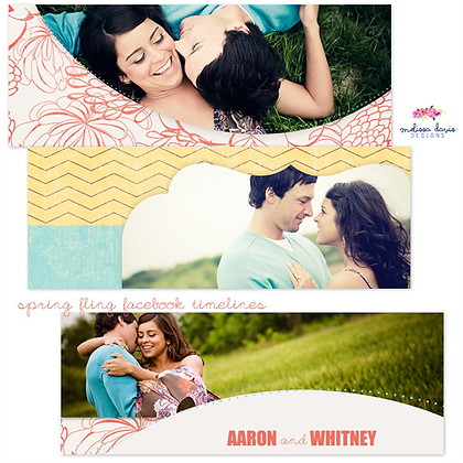 SPRING FLING FACEBOOK COVER PHOTOSHOP TEMPLATES