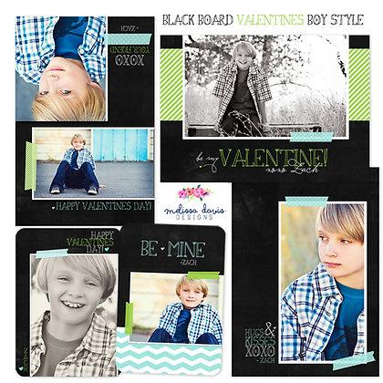 BLACKBOARD VALENTINE BOY PHOTOSHOP TEMPLATES